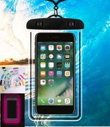 handy-tasche tasche Rabatt Leuchtende wasserdichte Handy-Taschen mit Gurt Dry Pouch Cases Abdeckung für Samsung Galaxy S7 für iPhone 6 5S 6S Plus Coque Case