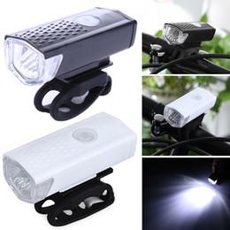 2020 luci ciclo ricaricabili Bike Light USB Ricaricabile 300 Lumen 3 Modalità Luce anteriore della bicicletta Lampada impermeabile 6000K Bike faro ciclismo LED Torcia sconti luci ciclo ricaricabili