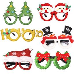 блестящие очки Скидка Рождество с блестками партии очков Рождественских украшений костюм очки партия очки Рамка для праздника благосклонности, ассорти стилей
