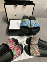 Chaussures plates imprimées pour animaux pour femmes en Ligne-Top Sandales pour femmes avec le sac droit Dust Bag Designer Chaussures Imprimer luxe Slide Summer Fashion Sandals Pantoufles
