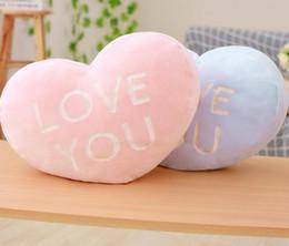 2019 cuscini a forma di amore A forma di cuore peluche Toy Love You San Valentino regalo creativo farcito cuore forma cuscino decorazione della casa sconti cuscini a forma di amore