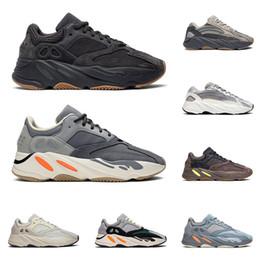 Baskets kanye west en Ligne-yeezy boost 700 v2 Chaussures de course kanye west pour hommes femmes Aimant VANTA Static SALT Wave Runner Mauve INERTIA ANALOG baskets pour hommes