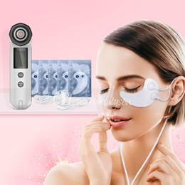 Máquina facial de mano online-Hand Lifting Facial RF Eye Care Patch Eye Treatment LED Photon Face Lifting Skin Rejuvenation Facelift Machine