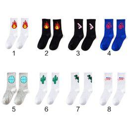 2019 модный носок кореи Fashion Unisex Daily Socks Harajuku Korea Japanese Cotton Flame Ulzzang Socks Men Chinese Cactus Gun Alien Students скидка модный носок кореи