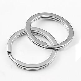 32mm schlüsselring Rabatt 10 Teile / satz Outdoor Tragbare Halterungen 32mm Metall Auto Schlüsselanhänger Schlüsselanhänger Split Ring