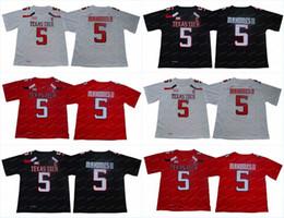 Футбольные майки онлайн-Мужчины NCAA Texas Tech Red Raiders Джерси 5 Футболки Колледжа Патрика Магомеса Высшего Качества В НАЛИЧИИ Бесплатная Доставка