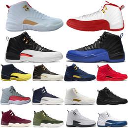 2019 scatola di taxi Air Retro jordan 12 FIBA Reverse Taxi Game Royal 12 12s scarpe da pallacanestro Bordeaux GS CNY Michigan bianco grigio palestra rosso Mens scarpe da ginnastica scarpe da sconti scatola di taxi