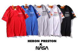 Frauen schwarze hemdstickerei online-Fashion Top-Marke NASA Kurzarm Tier gedruckt Mens Womens T-Shirts Black Tiger Mouse Stickerei Sleev Tees Shirts Tops Unisex