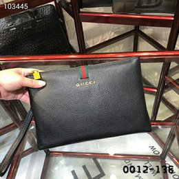 Canada Designer Mens Sac Pochettes Fashion Business Cuir Italien Grain Litchi Taille: 28X18X3 cm Mens Handbag 0012-138 Offre