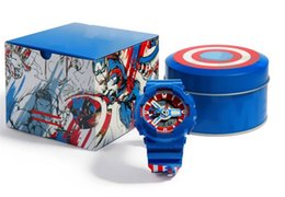 2019 дешевые телевизоры Новые Прибыл Мода Marvel Дизайнерские Часы Открытый Спорт Водонепроницаемые Цифровые Часы Капитан Америка Ударопрочный Кварцевые Спортивные Часы