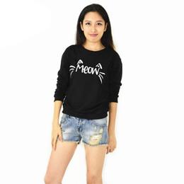 Koreanische sweatshirts niedlich online-Trainingsanzüge Direct Selling Real 2016 Neue Hoodies Herbst Koreanische Version Des Sternes Meow Nette Für Weibliche Absicherung Sweatshirts