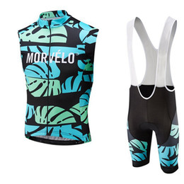 maglia manica lunga senza maniche Sconti 2019 Mens MORVELO Team Cycling Jersey Bicycle Sleeveless Shirt bib shorts suit Breathable MTB Bike Clothing ropa ciclismo Y052301
