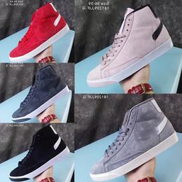 Argentina 2019y New Sb Zoom Mens Blazers Mid Decom Hombre Mujer Zapatillas de deporte de moda Zapatos de cuero de corte alto Diseñador Cómodo Zapatos casuales 36-44 Suministro