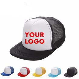 Protetores de sol para crianças on-line-Camionista Caps Impressão Personalizada Logotipo Hip Hop Em Branco Malha Ajustável Snapbacks Gorras Personalizados Para Adultos Crianças Pala de Sol