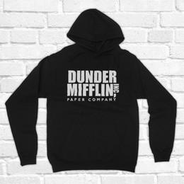 Società di carta online-Dunder Mifflin Pullover Donna Harajuku Paper Company Inc Americano Comedy TV Show Remake Unofficial Unisex Felpe Drop Ship # 399171