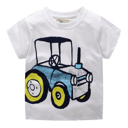 09d5be3a Children Clothes Kids Cotton T Shirts for Boys 2-7T Short Sleeve Summer  tshirt 2019 Tractor Machine Printed #6127
