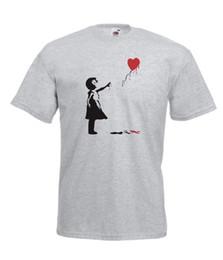 Xl воздушные шары онлайн-Бэнкси сердце шар новые Мужчины Женщины футболки ТОП размер 8 10 12 14 16 s M L xl xxL xxxl