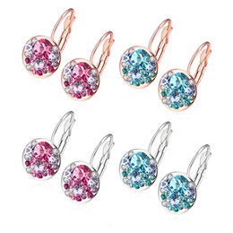 Серьги с бриллиантами CZ Fit Pandora, стерлинговое серебро 925 пробы, 18-каратное розовое золото, циркониевая манжета для пирсинга, высококачественные серьги от