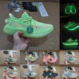 Grüne schuhe größe 13 online-Lagerbestand X Glow Green Antlia Lundmark Schwarz 3M Alle reflektierenden Laufschuhe Kanye Citrin Cloud White Designer Sneakers Trainer Größe 13 Lässig