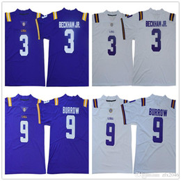 2019 LSU Tigers 125 ° 9 Joe Burrow 3 Odell Beckham Jr. 7 Leonard Fournette Patrick Peterson Tyrann Mathieu College Football maglie cucite da