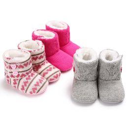 2019 neugeborene baby stiefel häkeln Mode Baby Schuhe Winter Kleinkind Crochet erste Wanderer Krippe Schuhe Newborn weiche Sohle Stiefel für Jungen Schuhe Schneeschuhe günstig neugeborene baby stiefel häkeln