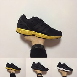 the latest 578e2 b4ea7 2018 New Arrival ZX FLUX men Trainer shoes zx flux athletic sport Shoe Gold  Black cheap sneakers Mujer Lovers Sapatos Femininos size 36-45