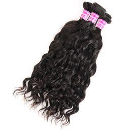 Canada Les vrais cheveux brésiliens de vague de rideau de cheveux brésiliens prennent les devants en dentelle de rideau de cheveux noir bouclés 100% de vraies perruques Offre