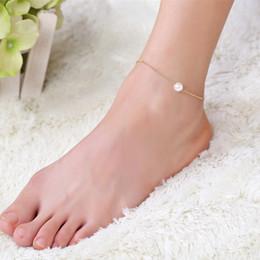 2019 accessori sexy per le donne piedi Vendita calda oro perla stella accessori cavigliera per le donne nuove sexy spiaggia catena cavigliera piede ornamento scarpe a piedi nudi regali accessori sexy per le donne piedi economici