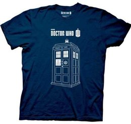 Marineblaue lederjacken online-Erwachsene Marineblau SciFi Fernsehshow Doctor Who Serie 7 Linear TARDIS T-Shirt T-Shirt Kroatien Leder T-Shirt