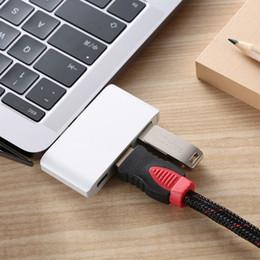 2019 apple macbook adaptateur hdmi Double adaptateur USB-C Convertisseur de concentrateur avec chargement USB3.1 4K HDMI USB 3.0 pour Apple 2016/2017 MacBook Pro promotion apple macbook adaptateur hdmi