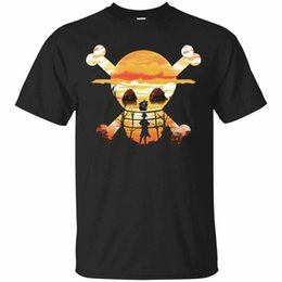 2019 affe d luffy hemd One Piece T-Shirt Monkey D. Luffy Strohhut Mannschaft T Shirt Kurzarm S-5Xl Printingtee Hemd günstig affe d luffy hemd