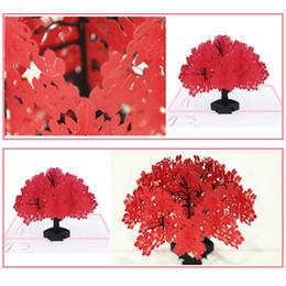 Handgemachte karten für liebhaber online-3D Liebhaber Kapok handgemachtes Geschenk Valentinstag Jubiläum Geburtstag Beste Wünsche Up Festival Einladung Hochzeit Grußkarten
