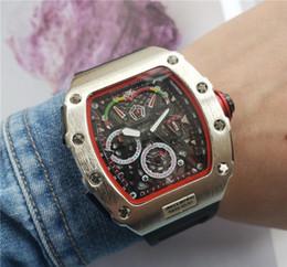 Relógio de forma irregular on-line-Top marca dos homens relógio de moda personalidade barril forma esqueleto relógio de quartzo cronômetro de Alta qualidade