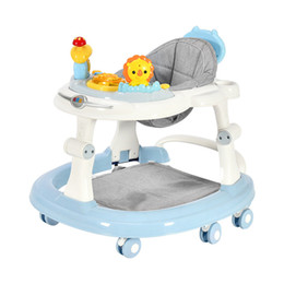 wanderer räder Rabatt Baby-Wanderer mit 6 Mute Rotating Wheels Anti Prolongation Multifunktions-Kind-Wanderer Sitzgehhilfe Assistent Toy0-18M