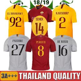 2018 2019 AS Roma Soccer Jersey TOTTI DZEKO PEROTTI NAINGGOLAN DE ROSSI  JESUS PASTORE Home Away 18 19 Rome Adult Football Shirt discount roma shorts 441a8c7bb