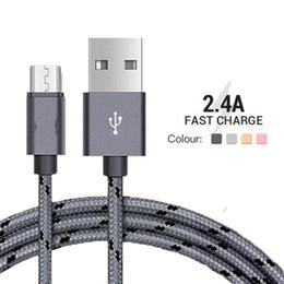 2A Naylon Örgü Mikro USB Erkek Kablo Data Sync Konektörü Örgü Telefon Kabloları Hızlı Şarj Microusb Android nereden