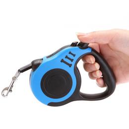 Cuerda de tracción automática para mascotas online-Correa 3M perro retráctil automática perro de perrito del gato cuerda de tracción flexible correa del perro de la correa para el Pequeño Mediano Perros Pet Products
