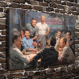 Grande decorazione online-Presidenti repubblicani che giocano a poker Andy Thomas Grand Ol Gang, stampa su tela HD Nuova decorazione della casa arte pittura / (senza cornice / incorniciato)