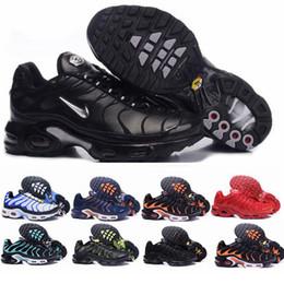 2019 chaussures casual en cuir pur 2020 Nike Air Max Nouveau Mercurial Plus Tn Ultra SE Noir Blanc Orange Desinger Chaussures De Course Femmes HommesTrainers Baskets De Sport Taille 36-46