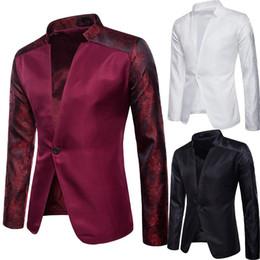 um botão elegante homens Desconto 2019 dos homens novos formais de negócios casuais dos homens à moda Casual Slim Fit Formal One Button Suit Blazer Brasão Tops F1