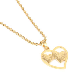 милая любовная цепь Скидка Сердце Ожерелье Цепочка Золотой Цвет Любовь Романтические Украшения Мода Женщины Девушка Хороший Подарок