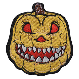 1PC~PUMPKIN WAGON~IRON ON EMBROIDERED APPLIQUE PATCH