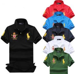 camisas dos homens da tela Desconto 19 Mens Designer Polos Marca cavalo pequeno Crocodilo Bordado roupas homens tecido letra polo t-shirt gola casual t-shirt t camisa topos