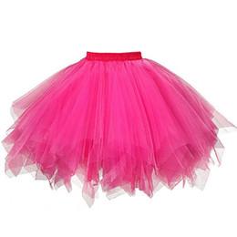 Erwachsener flauschiger rock online-JAYCOSIN Mädchen Plissee Rock Flauschigen Chiffon Röcke Erwachsene Tutu Röcke Prinzessin Rock Für Party Dance Prinzessin Mädchen Tüll Kleidung