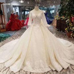 LSS465 medias mangas vestidos de novia con velo de novia vestido de bola vestidos de novia con tren largo envío rápido gratis desde fabricantes