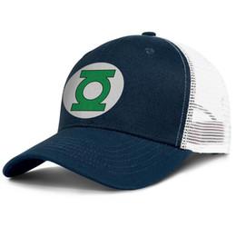 costume costume lanterna verde Desconto Lanterna verde logotipo verde branco dark_blue Mens e mulheres legal viseira caps costume montado Moda malha cap Twill chapéu do camionista