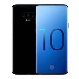 Двухъядерный gps онлайн-Бесплатная доставка Goophone S10 плюс телефон S10 + 6,3 дюйма разблокирована четырехъядерный процессор MTK6580 1 ГБ ОЗУ 8 ГБ / 16 ГБ ROM двойной сим