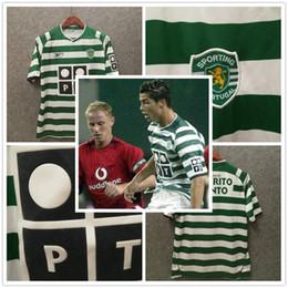 xl samt Rabatt Retro 2003 04 Sporting Lissabon Fußball Jerseys ronaldo Fußballhemden TOP Qualität Lisbon Vintage Samt Sponsor Camisa de futebol Maillot