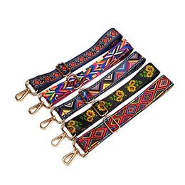 rainbow women belt Promo Codes - Women bags belt adjustable colours bag Shoulder straps Handbag Straps for ladies Rainbow suspender Decorative chain