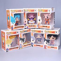 Bolas de vinil on-line-FUNKO POP dragonball Dragon Ball figuras KAI Personagens Heróis Modelo de Vinil Figuras Do Filme de Ação melhor presente